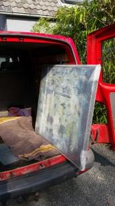 Schilderij in bus